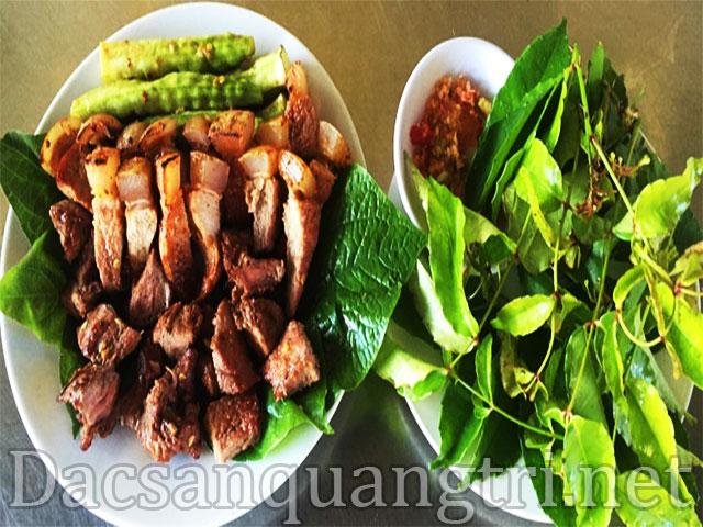 Thịt Trâu lá trơơng đặc sản Quảng Trị